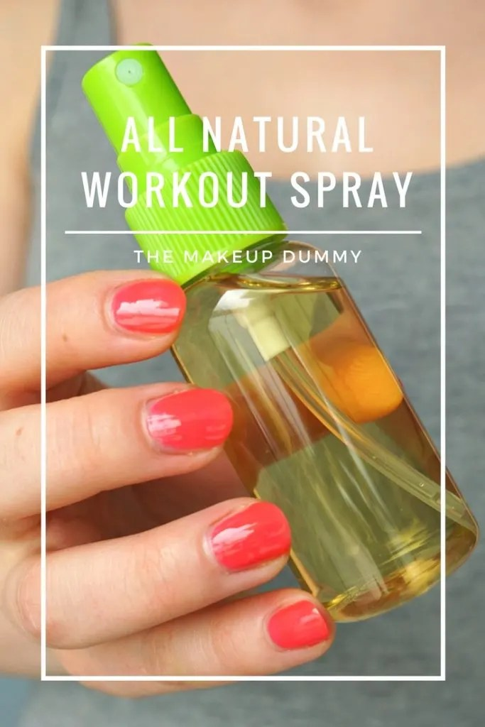 How To Make your own DIY All Natural Workout Spray. You probably already have all of the ingredients in your kitchen! Tutorial by The Makeup Dummy