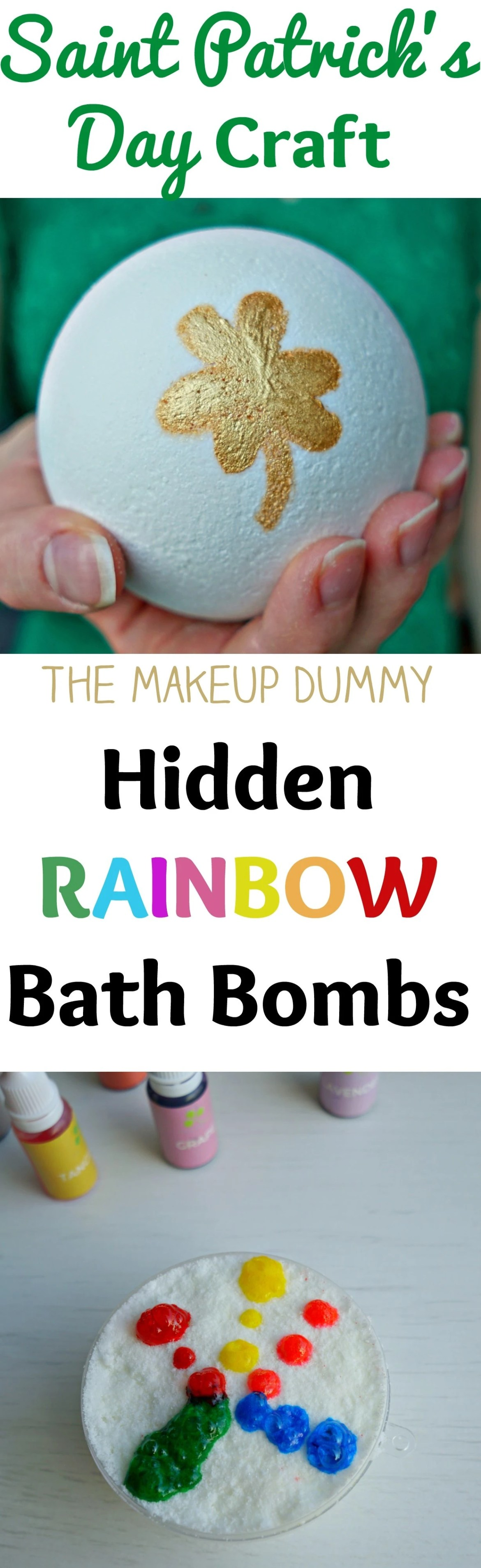 This is so cute and very easy to make! How to make a DIY Hidden Rainbow Bath Bomb + a Review of the food grade liquid soap dye coloring kit from