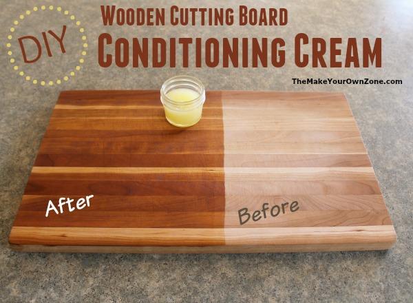 DIY Wooden Cutting Board Conditioning Cream