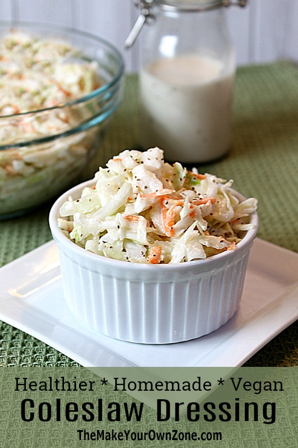 Coleslaw Dressing Recipe - this updated coleslaw dressing is super easy and vegan friendly too!