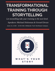 Transformational Training Through Storytelling @ Midlands Technical College NE Campus