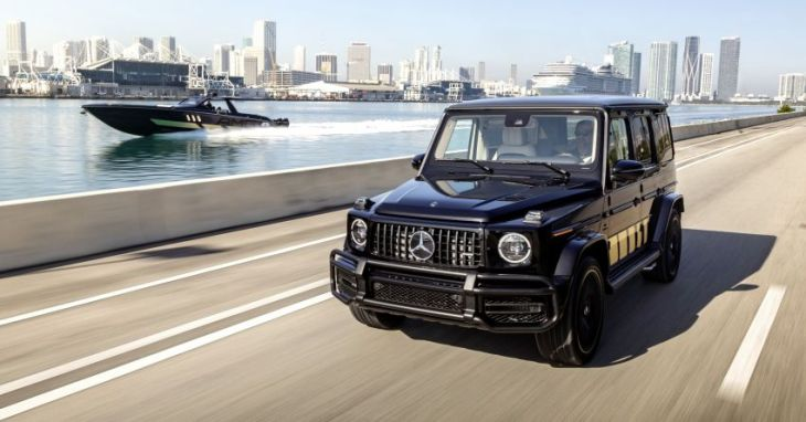 Mercedes-AMG and Cigarette Racing collaborate on special edition boat, comes with matching G63