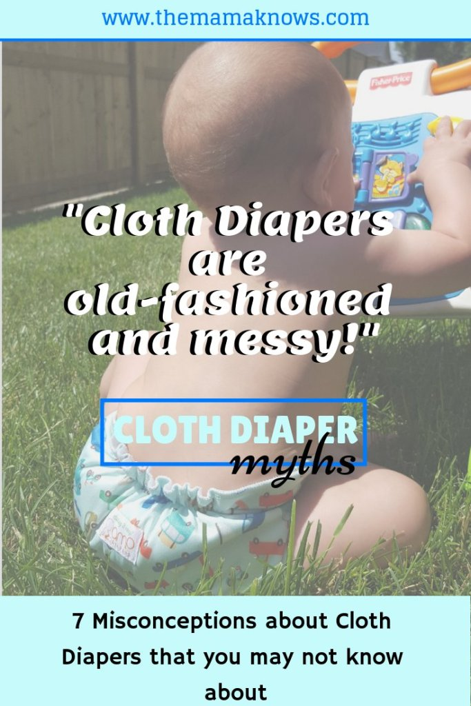 7 Misconceptions and myths about Cloth diapering