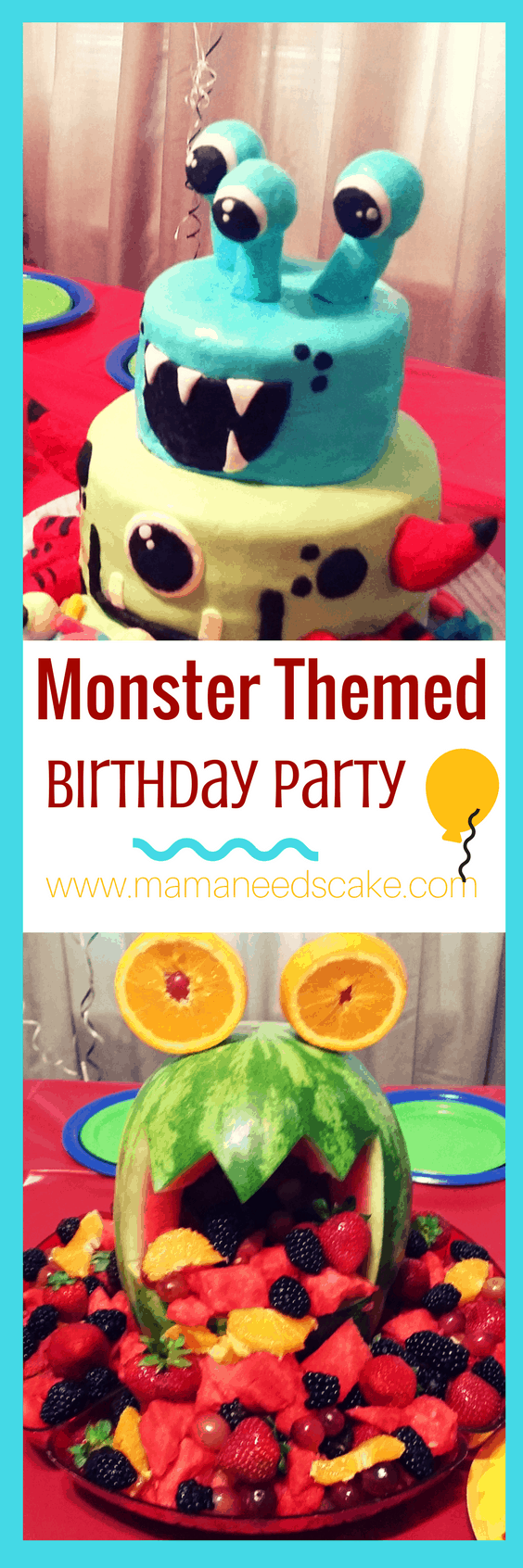 Monster Themed Birthday Party | Mama Needs Cake