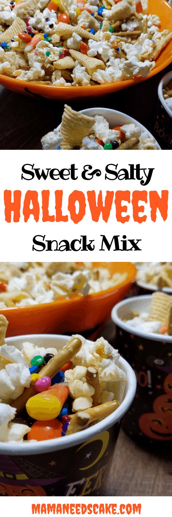 Sweet Amp Salty Halloween Snack Mix Mama Needs Cake Nut