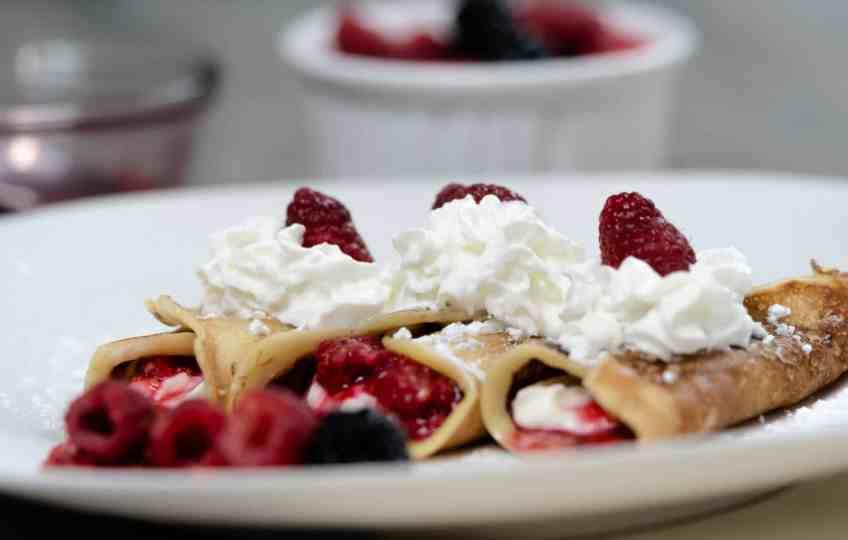 Raspberry Creme Crepes