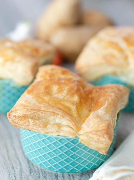Mini Chicken Pot Pie Puff Pastry