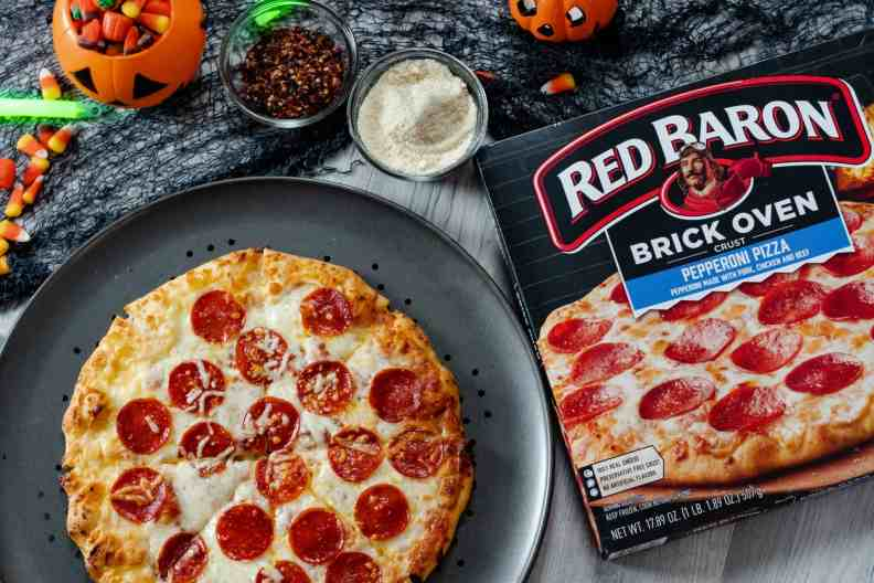 Red Baron Brick Oven Pizza Pepperoni Halloween