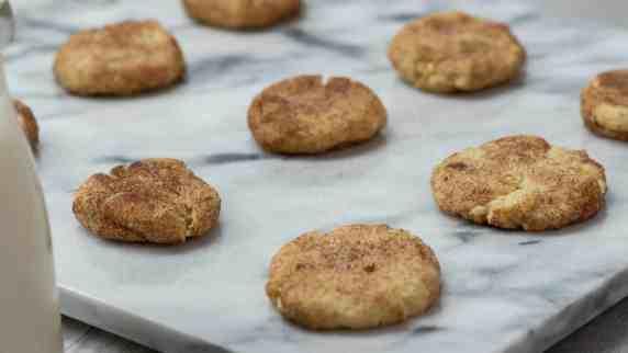 brown butter sugar cookies marble slab cinnamon sugar sprinkles