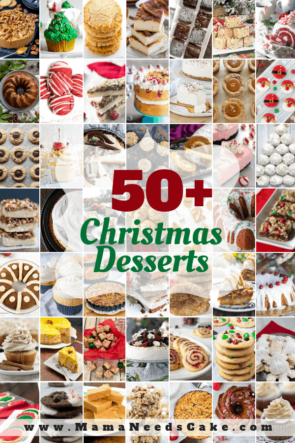 Christmas season means baking season is here & I've made it easy by rounding up 50+ must try Christmas Desserts. #food #dessert #christmasgifts #christmascookies #christmas #thanksgivingrecipes #thanksgiving #thanksgivingdesserts #cookies #cookierecipes #dessertfoodrecipes #desserts #foodblogger #foodlover #dessertrecipes #foodgasm #recipeoftheday #foodblog #familyrecipes #candy #chocolatechipcookies #veganrecipes #glutenfreerecipes #holidaydessert #bakedgoods #bundtcake #christmascookiexchange