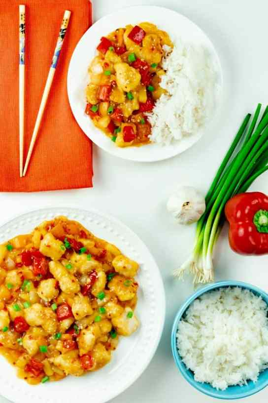 Sweet Fire Chicken Panda Express Copycat One Skillet Meal