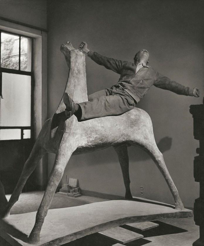 Il cavaliere The-sculptor Marino Marini on his horse Milan Italy 1952 © Herbert List Magnum Photos