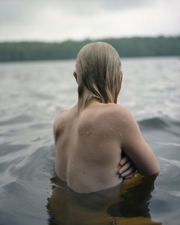 . JOCELYN LEE Untitled (Fiona in water), 2009 pigment print mounted to Dibond image, 23 1/2 x 19 1/4 inches paper and mount, 31 x 26 3/4 inches © Jocelyn Lee; courtesy Pace/MacGill Gallery, New York