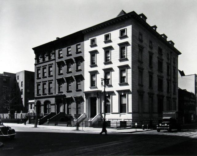 fifth avenue houses nos 4 6 8 1936 berenice abbott