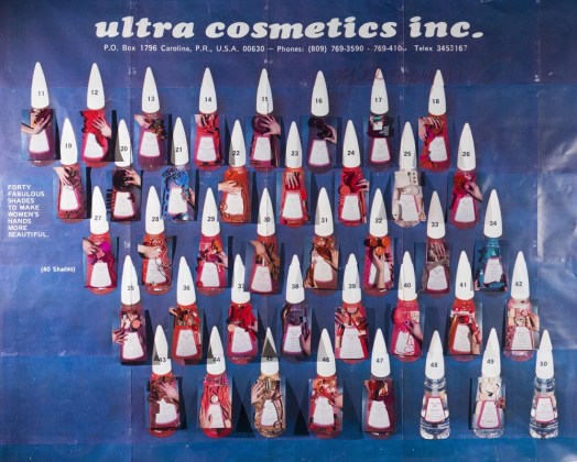 Sarah Cwynar Ultra Cosmetics (Nail Polish Forty Fabulous Shades), Serie: Colour Factory, 2017 © Sarah Cwynar