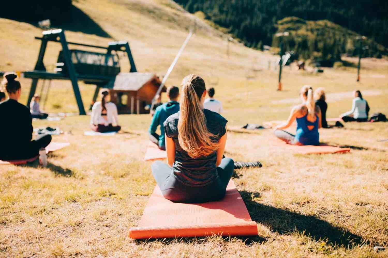Morning Yoga at Crystal Mountain Resort, Washington - TheMandagies.com