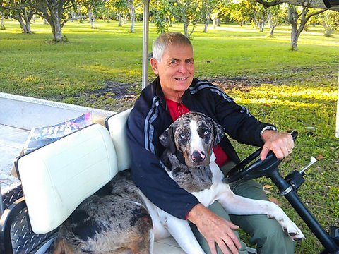 Doug the current owner, and his faithful dog HooDoo