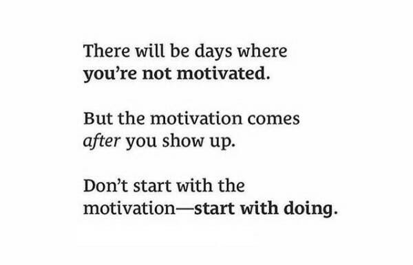 start with doing