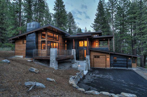 rustic yet modern home