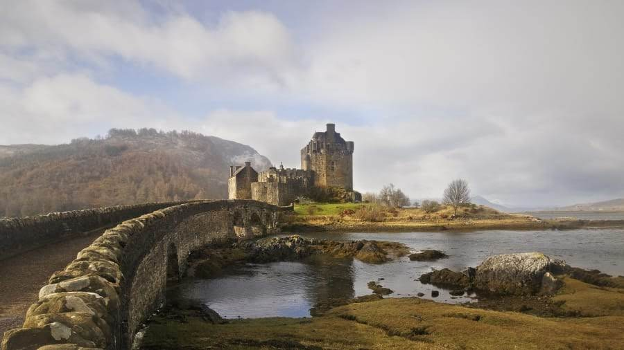 old castle and bridge