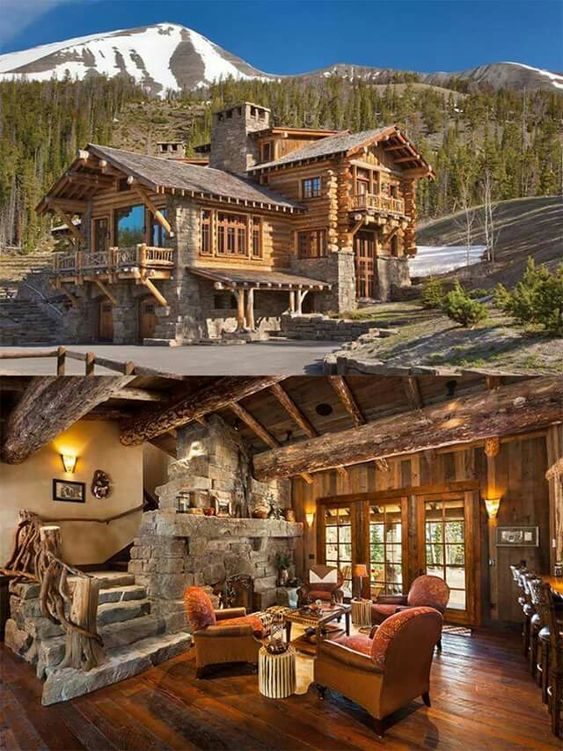 rustic home in and out