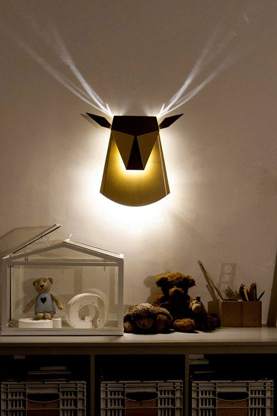 deer wall lamp