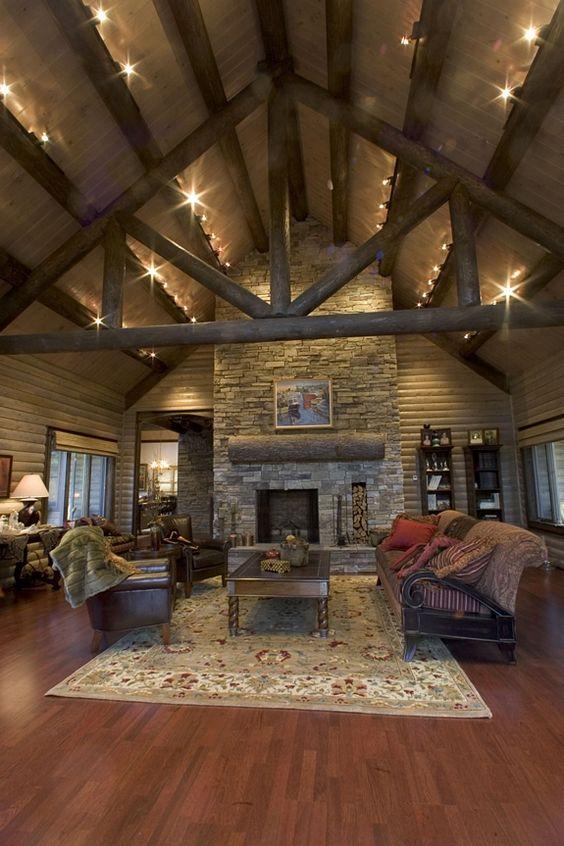 extreme makeover log home living room