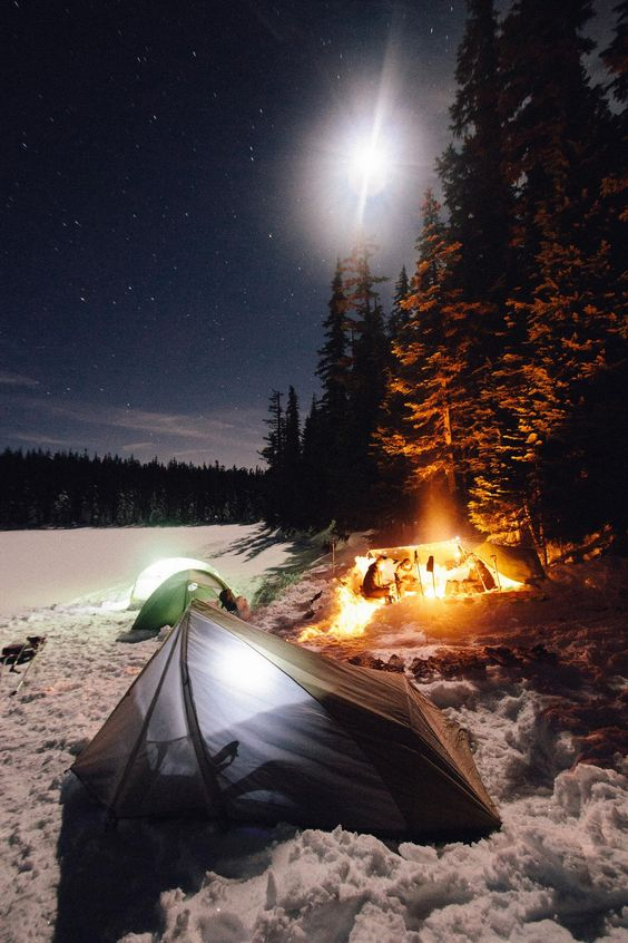 extreme winter campsite