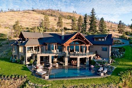 big house with big pool
