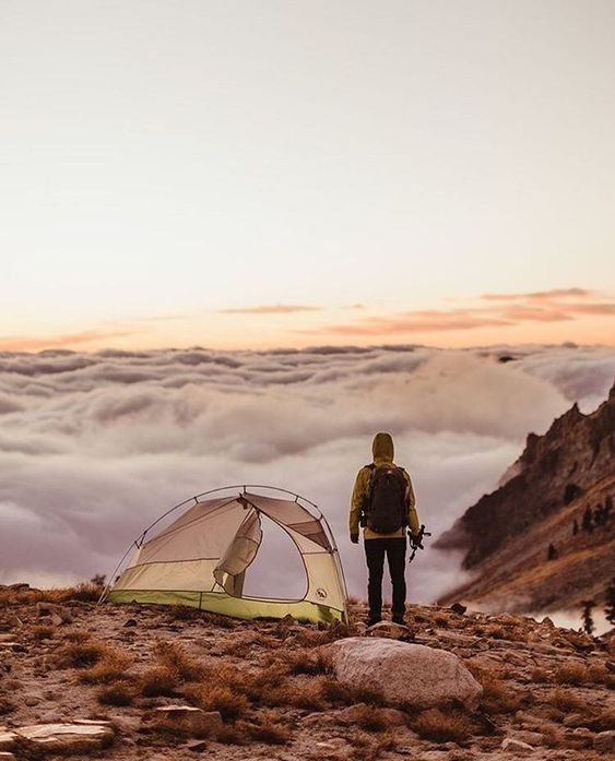 campsite high above the clouds