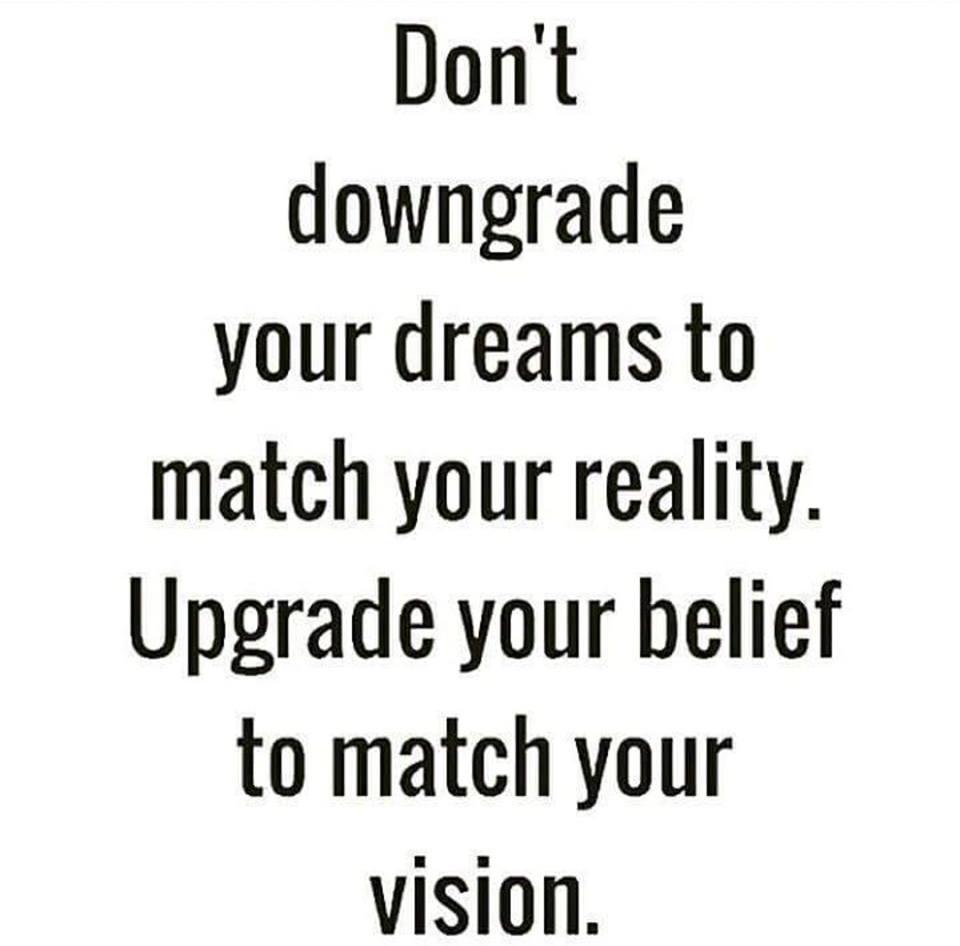 upgrade your belief