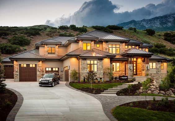 large home with long driveway