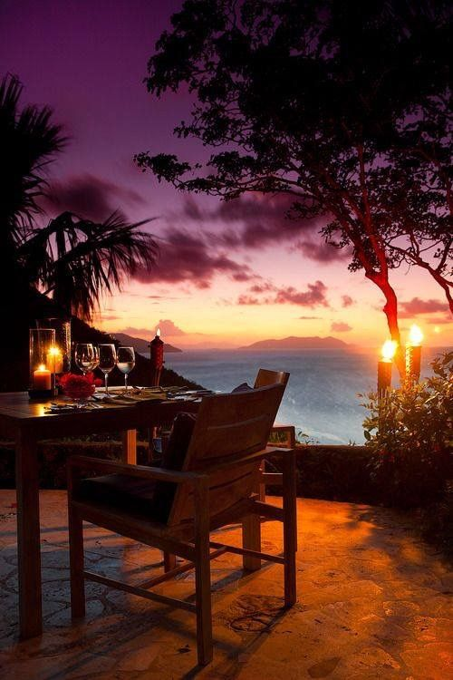 tropical setting for two
