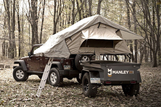 jeep and manly trailer camper