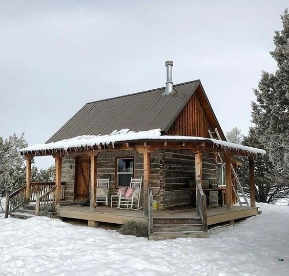 old but cozy looking cabin
