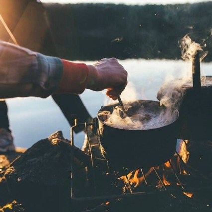 cooking in the rugged outdoors