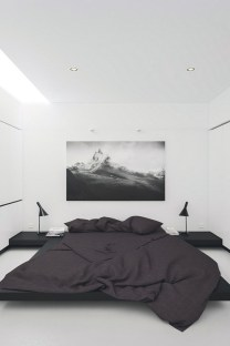 modern manly bedroom