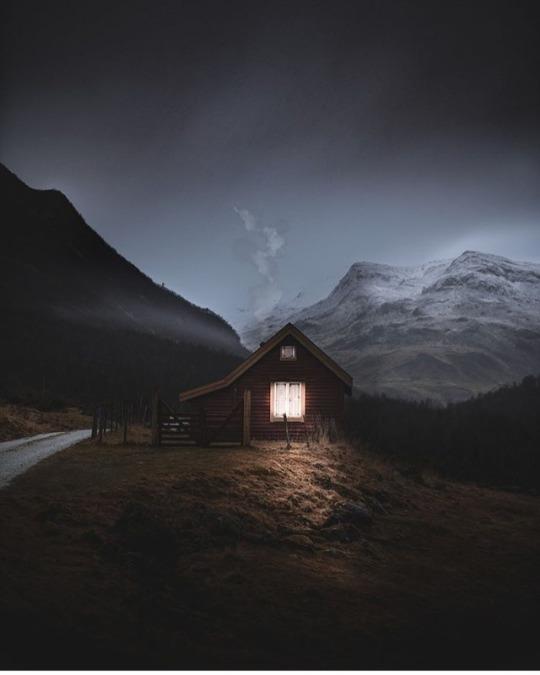 perfect solitude cabin in winter