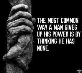 dont give up your power quote