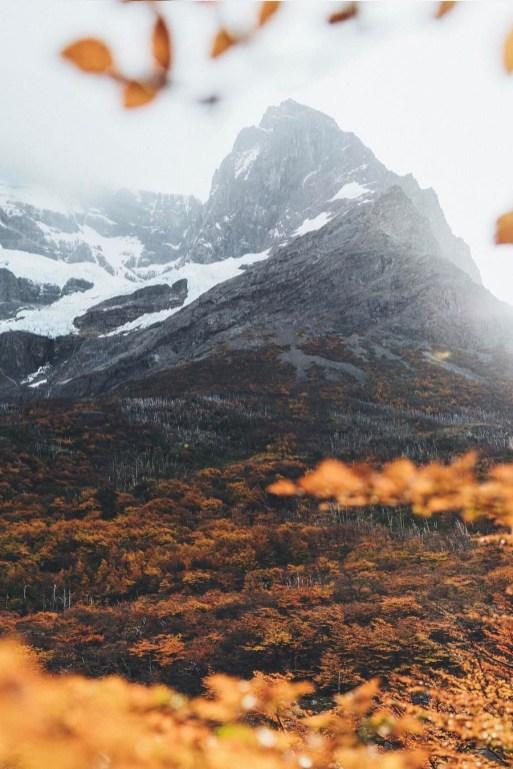 rugged mountain scene