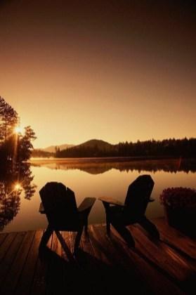 summer night at the lake
