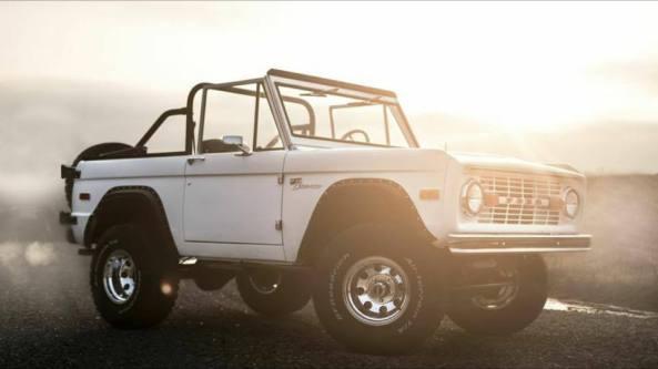white ford bronco