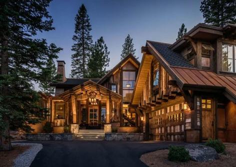 large rustic home