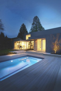 modern home with swimming pool
