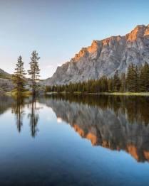 mountain reflection on lake