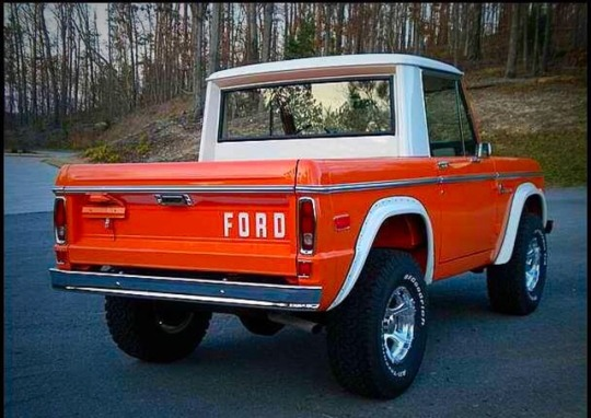 orange ford bronco