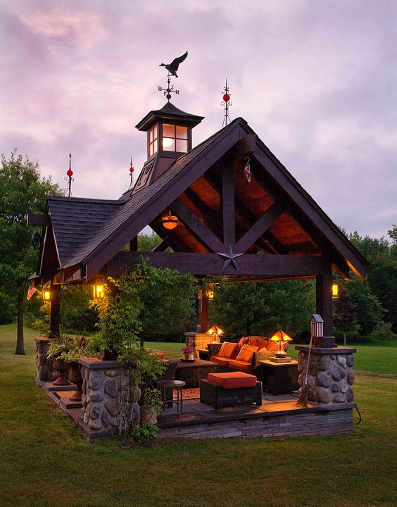 cozy outdoor living space perfect for summer