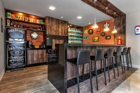jack daniels fridge in home bar