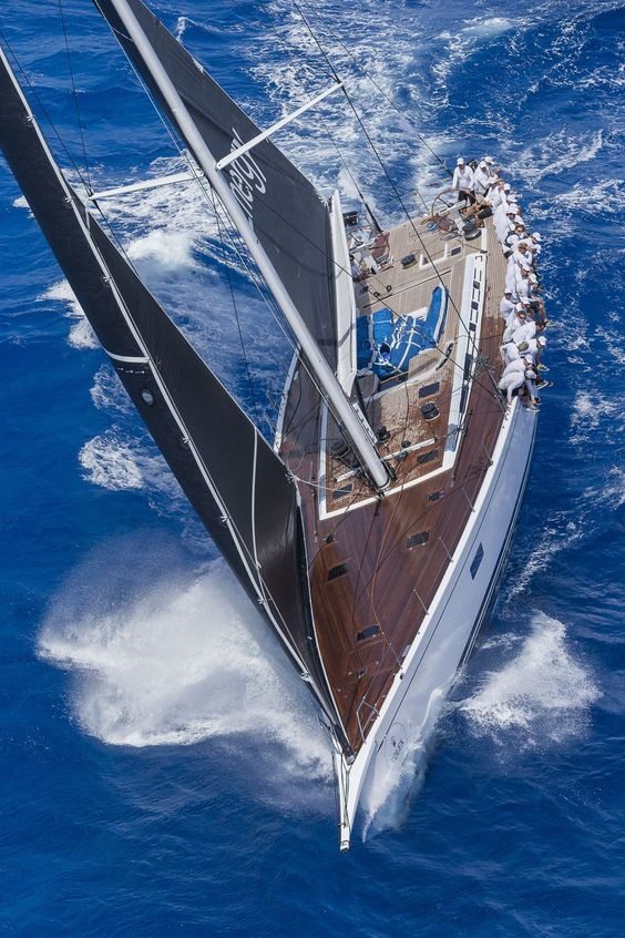 sailboat at full speed