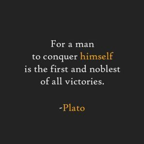the first and noblest of all victories